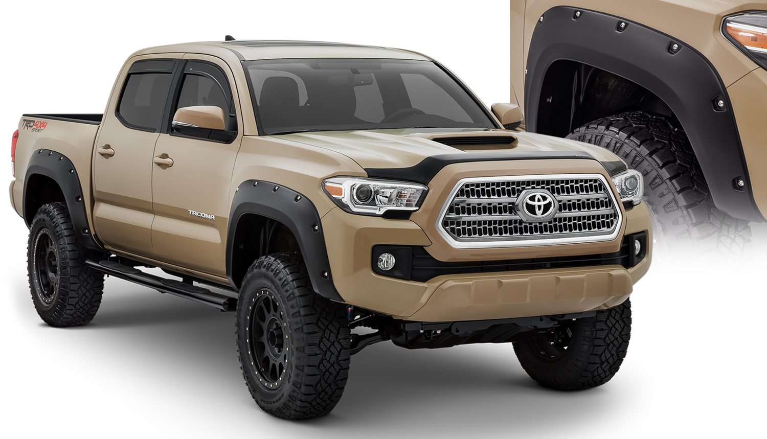 2016 toyota tacoma pocket style fender flares 30922 02 pure tacoma accessories. Black Bedroom Furniture Sets. Home Design Ideas