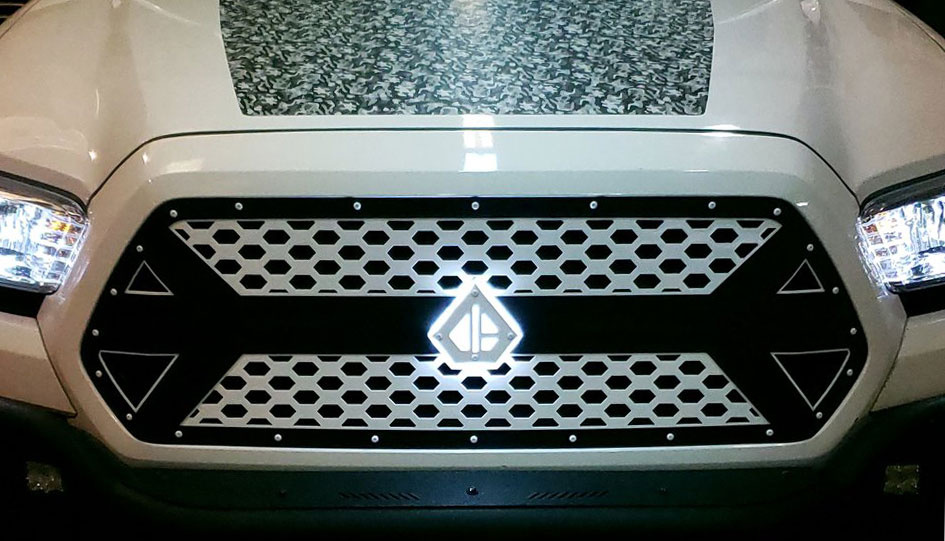 DB Customz Tacoma Drop-In Grille Insert; V3 Series; 2016-2020